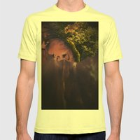 Natural Hair Mens Fitted Tee Lemon SMALL