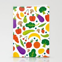 Veggies And Fruits Stationery Cards