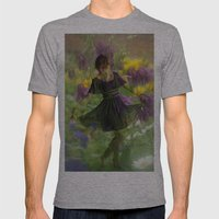 Flower Fairies Mens Fitted Tee Athletic Grey SMALL