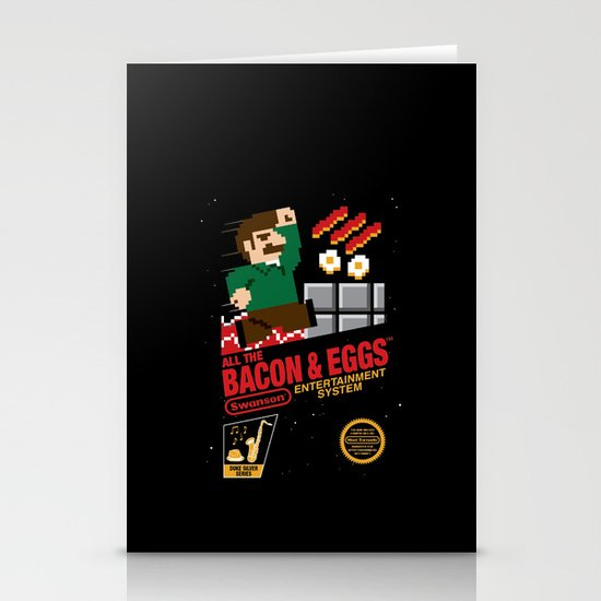 All the Bacon and Eggs Stationery Card