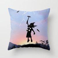 Thor Kid Throw Pillow