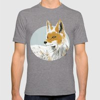 Winter Fox Mens Fitted Tee Tri-Grey SMALL