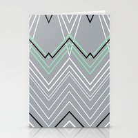 Mint Grey Chevy Stationery Cards