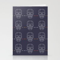 skulls Stationery Cards featuring Skulls by Hipster