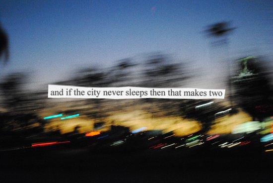 If The City Never Sleeps... Art Print