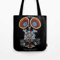 Tote Bag featuring Mexican Owl by Msimioni