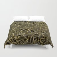 Ab 2 R Black and Gold Duvet Cover
