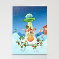 Santa Claus Abducted By … Stationery Cards