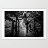 bridge ballet Art Print