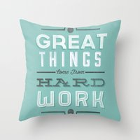 Great Things... Throw Pillow