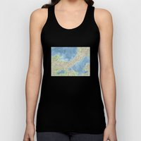 City Map Madison Wisconsin watercolor  Unisex Tank Top