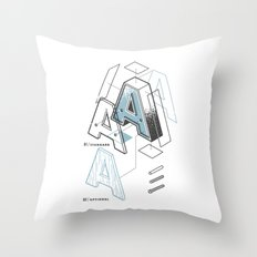 The Exploded Alphabet / A Throw Pillow