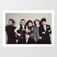 one direction Art Prints featuring One Direction by Diana T