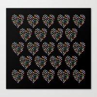 Hearts Heart Multiple On… Canvas Print