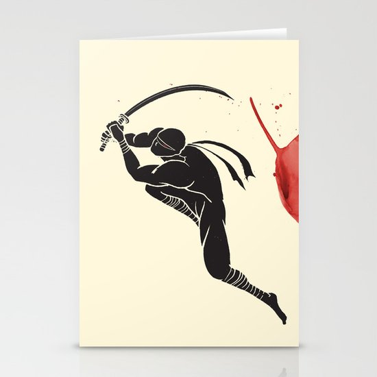 Ninja! Heads will roll! Stationery Card