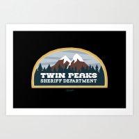 Twin Peaks Sheriff Depar… Art Print