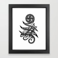 Shoulder Band Tattoo  Framed Art Print