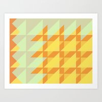 Canary Geometry  Art Print