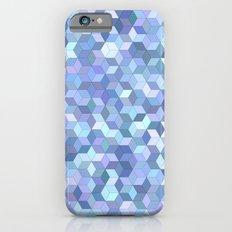 Light blue cube pattern iPhone 6 Slim Case