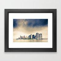 Manhattan Storm Framed Art Print