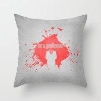 Be A Gentleman Throw Pillow