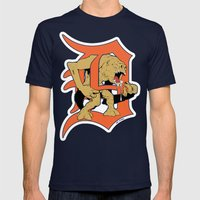 Detroit Rancors Mens Fitted Tee Navy SMALL