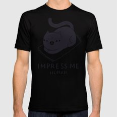 impress me SMALL Mens Fitted Tee Black