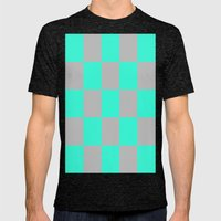 Mint & Grey Mens Fitted Tee Tri-Black SMALL