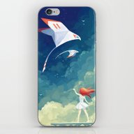 iPhone & iPod Skin featuring Flyby by Freeminds