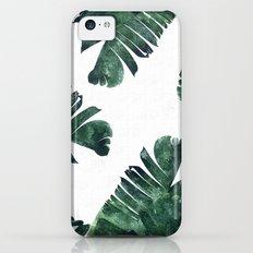Banana Leaf Watercolor Pattern #society6 iPhone 5c Slim Case