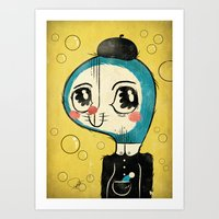 Portrait Of Doraemon's C… Art Print