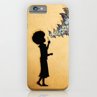 iPhone & iPod Case featuring Girl Blowing Butterflies by Lucita Peek