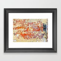 Peeling Framed Art Print