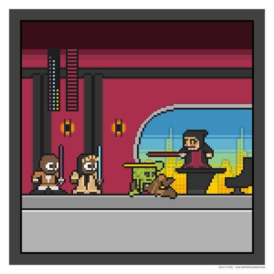 Mega Boss Battles - Palpatine vs. The Jedi Council Art Print