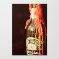 Candle wax in a Bottle Canvas Print