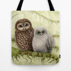 Northern Spotted Owls Tote Bag