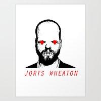 JORTS WHEATON Art Print