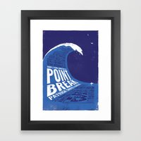 Point Break Framed Art Print