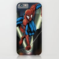 iPhone & iPod Case featuring Sharp Spidey Swing by Dave Franciosa