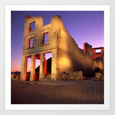 Night Time in Bodie Art Print