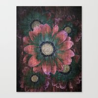 hippie flowers Canvas Print