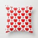Valentine in White Throw Pillow