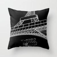 Digital Eiffel Throw Pillow