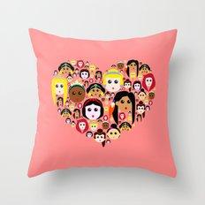 Love Princesses Throw Pillow