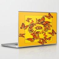 Monarch Butterflies Sunf… Laptop & iPad Skin