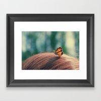 butterflyyyy Framed Art Print