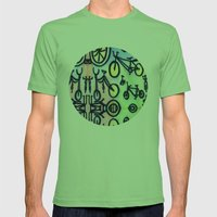 Bikes Mens Fitted Tee Grass SMALL