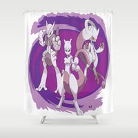 MewTwo Beyond Shower Curtain