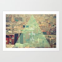 Lost in the city Art Print