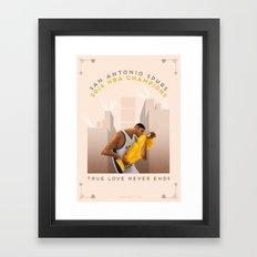 NBA PLAYOFFS 2014 - THE END Framed Art Print